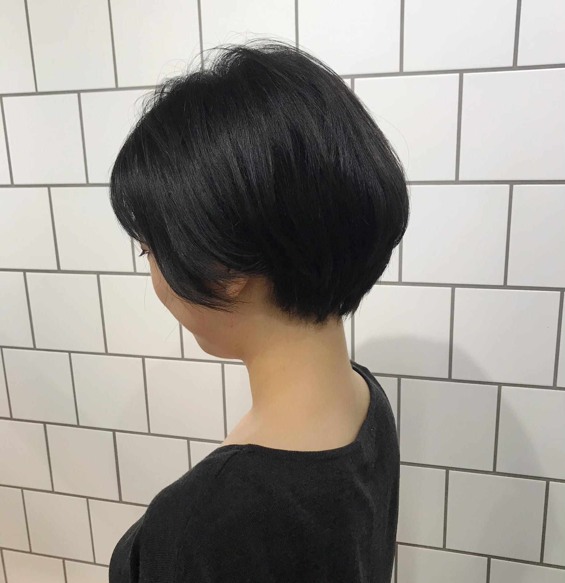 黒髪ショート!